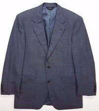 JOS a BANK Signature GOLD Suit 40R Gray GLEN Plaid WINDOWPANE Blue CHECK Italy**