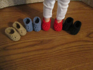 "4 pairs slippers shoes fit Wellie Wishers and 14"" dolls"