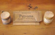 Vintage 1930s American Crayon Co Crayola Petroma Blue Yellow Powder & Box & Ad