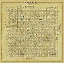 Carson County Texas - General Land Office 1878 - 23.00 x 23.27