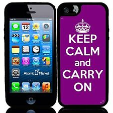 Purple Keep Calm and Carry On For Iphone 6 Case Cover