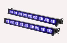 2 x LED de QTX ultravioleta Bar UVB-9 9 X 3W Efecto de Luz Negra Dj Discoteca