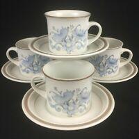 Set of 4 VTG Cups and Saucers by Royal Doulton Inspiration Lambethware England