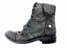 SKECHERS ANKLE BOOTS WOMENS BLACK COMFORT FASHION FOOTWEAR USED SHOES 7 M