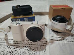 Samsung NX1100 Mirrorless Digital Camera With Lens Battery Charger