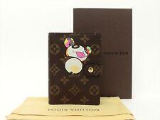 Louis Vuitton Authentic Monogram Panda Agenda fonctionnel PM Diary cover Auth LV
