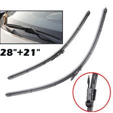 Pair Front Windscreen Wiper Blades Flat Fit For Benz R M ML GL Class W251 W164