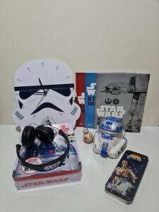 Lego star wars bundle job lot Astro Tin  Books Stormtrooper Wall Clock Earphones
