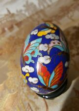 Vintage Chinese, Cloisonne Egg, Butterfly Decorated. Just Lovely!