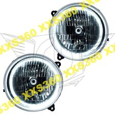 ORACLE Halo 2x HEADLIGHTS for Jeep Liberty 02-04 WHITE LED Angel Demon Eyes