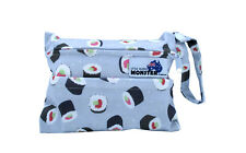 Sushi Rolls Mini Wet Bag - for cloth breast pads mumma cloth with double zip