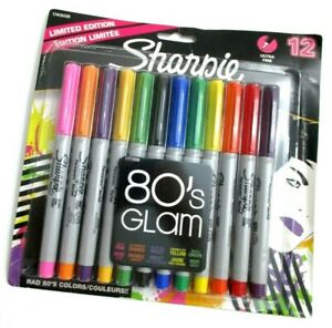 Sharpie Permanent Ultra-Fine Point Markers, Assorted Colors, Pack Of 12