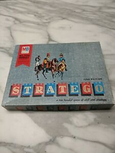 Vintage 1963 Stratego Wooden Game Wooden Pieces Outstanding Condition Gotta See!