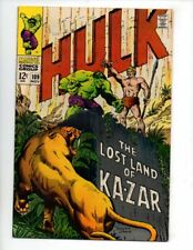"""The Incredible Hulk #109 (Nov 1968, Marvel) VF 8.0 """"KA-ZAR APP."""""""