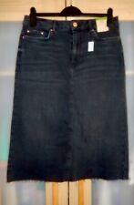 Ladies Marks and Spencer Black Denim Skirt Size 12