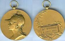 Gymnastique - SAINT BRIEUC 1922  concours de gymanstique d=40mm doré