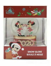 Disney Mickey and Minnie Mouse Christmas 2020 Snow Globe Brand New Boxed