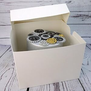 10 INCH White Standard Cake Box
