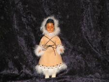 "Doll 7"" storybook ""Dress Me"" #13 Blak Hair Sleep eyes drk skin eskimo & baby"