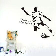 We Are Champion Soccer Wall Decal sticker boy room decor DIY Vinyl art mural