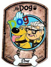 New LE 700 DLP Paris Disney Pin✿Up Carl My Dog Bone Dug Dangle Doug Collar Frame