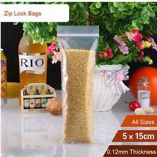 100pcs 5*15cm 5mil Grip Seal Bags Resealable Poly Plastic Clear Zip Lock Bags