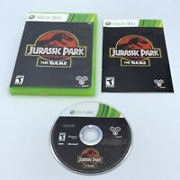 Jurassic Park The Game (Microsoft Xbox 360, 2011) Complete With Manual CIB