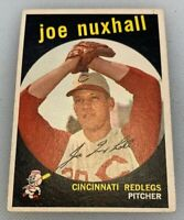 1959 Topps # 389 Joe Nuxhall Baseball Card Cincinnati Redlegs Reds Red Legs