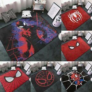 Marvel Spider Man Logo Area Rug Living Room Bedroom Flannel Floor Mat Carpet