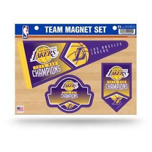 Los Angeles Lakers NBA 2020 World Champions Die Cut Team Magnet Sheet