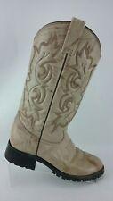 Rudel Western Boots Men's 7 E Cream Colored Shoes R4S3