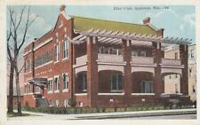 Antique POSTCARD c1910s Elks Club APPLETON, WI WISCONSIN 19083