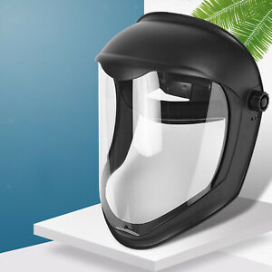 Face Shield Helmet Clear Visor UV Blocking Safety Grinding Anti-Fog Mask