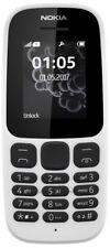 Nokia 105 (2017) - White (Unlocked) Cellular Phone (Single SIM)