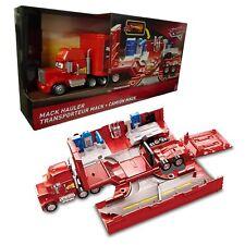 Disney 3 giocattolo Mack Cars Hauler viaggio Garage Officina Nuovo in Scatola