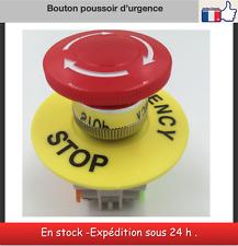 Bouton poussoir arrêt d'urgence champignon interrupteur urgence