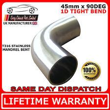 "44,45 mm (1 "" 3/4) 45mm serré rad 1d 90 degrés mandrin bend t316 épais mur (mm)"