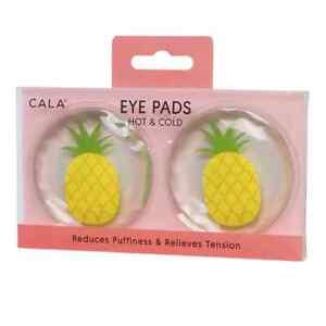 CALA Eye Pads, HOT & COLD EYE PADS (Pineapple) Microwavable & Freezable