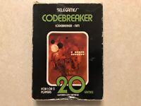 Tele-Games CODEBREAKER Sears — Atari 2600 — COMPLETE CIB TESTED