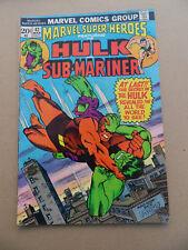 Marvel Super Heroes  42 . Hulk / Sub - Mariner . Marvel 1974 . FN +