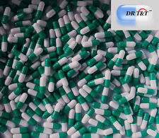1000 Verde Blanco gelatina cápsulas de Gelatina Vacías Tamaño de llenado 0 Talla 0