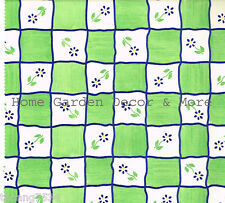 Green White Cream Check Daisy Vinyl Contact Paper Shelf Drawer Liner Peel Stick