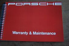 1990 Porsche 911 Owners Maintenance Book Carrera Parts Service Reprint
