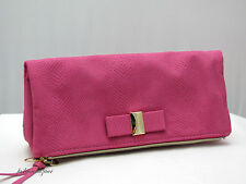 Victoria's Secret PINK FAUX SUEDE CLUTCH PURSE >>NEW WITH TAG<<