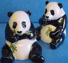 QUAIL CERAMIC GIANT PANDA BEAR SALT & PEPPER POTS CONDIMENTS CRUET SET