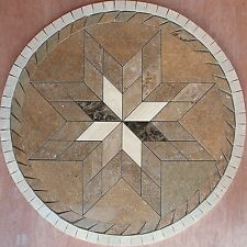 "32"" Marble Travertine Tile Medallion mosaic  Stone Flloring or wall design  #51c"