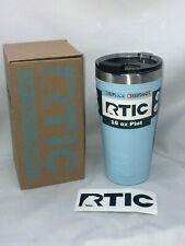 RTIC 16oz Pint Tumbler | Color Blue ICE  | With Spill Proof Lid 1380