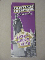 Brochure: British Columbia Canada - 1939 - The Royal Year
