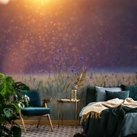 Vlies Fototapete BLUMENWIESE Grashalme Blumen 3D EFFEKT Sonne Feld Wohnzimmer
