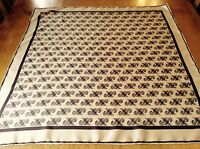 VINTAGE JAEGER HAND ROLLED SILK SCARF.  VGC.  27 x 26 INCHES.  SO CHIC!